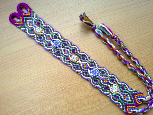 Photo By Karxalc Friendshipbraceletsnet Interesting Double Wave Friendship Bracelet Pattern
