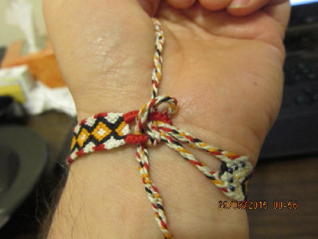 Now Both Braids Are On The Same Side Of Bracelet So You Can Hold Them With Your Fingers